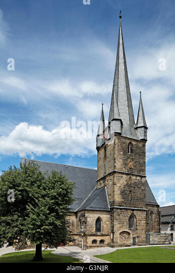 Catholic parish church of Our Lady, steeple, Lichtenfels, Maintal, Upper Franconia, Bavaria, Germany - Stock-Bilder