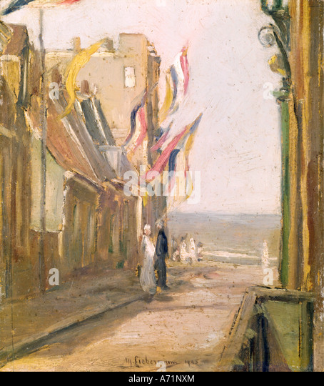 'fine arts, Liebermann, Max, (1847 - 1935), painting, 'Feiertag', ('holiday'), private property, - Stock Image
