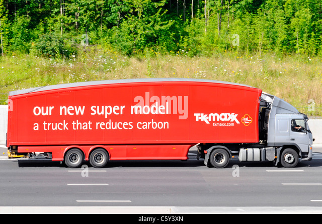 TK Maxx carbon reducing lorry - Stock Image