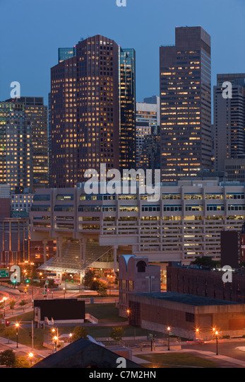 Buildings in a city, Rose Kennedy Greenway, Boston, Massachusetts, USA - Stock Image