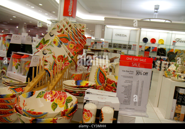 Rhode Island Providence Providence Place Mall shopping Macy's department store retail display for sale sign - Stock Image