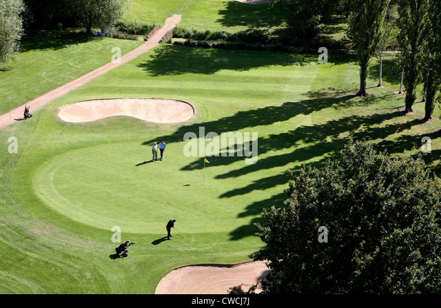 Aerial view of golf course - Stock Image