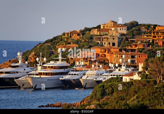 Italy Sardinia Costa Smeralda Porto Cervo - Stock Image