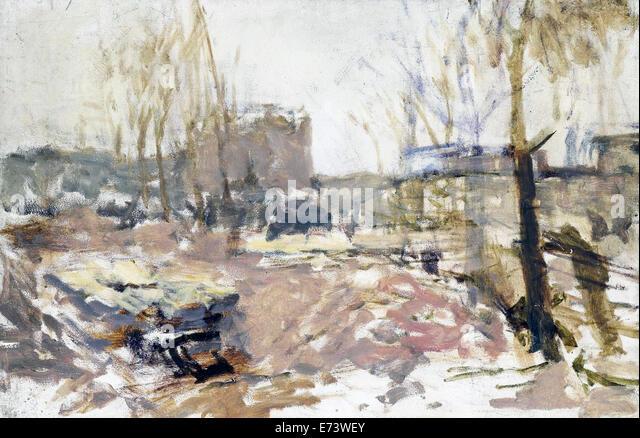 Building Site on De Clercq Street - by George Hendrik Breitner, 1880 - 1923 - Stock Image