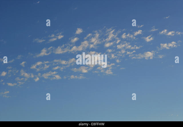 View of clouds, Low angle view - Stock Image