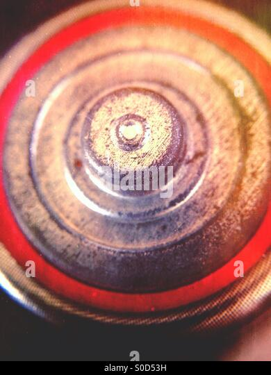 Close up of a battery - Stock Image