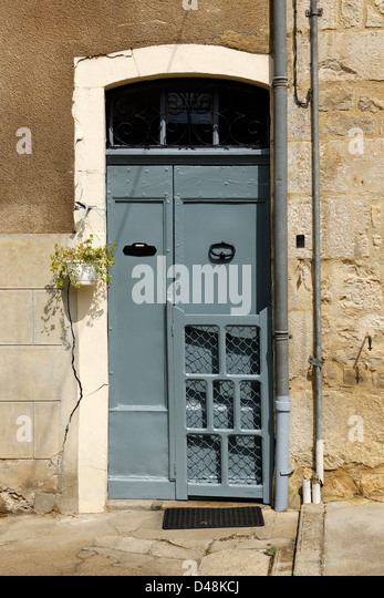 Doorway, St Antonin Noble Val, Tarn et Garonne, France - Stock Image