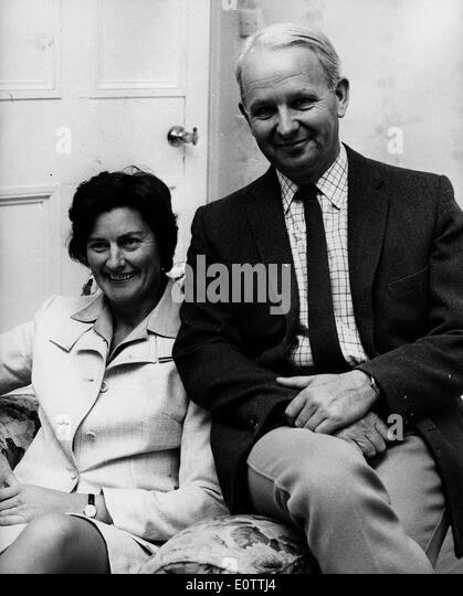 Prime Minister Brian Faulkner with wife Lucy - Stock Image