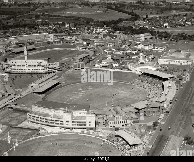 Sydney Showground and Cricket Ground 1936 14019783946 o - Stock Image
