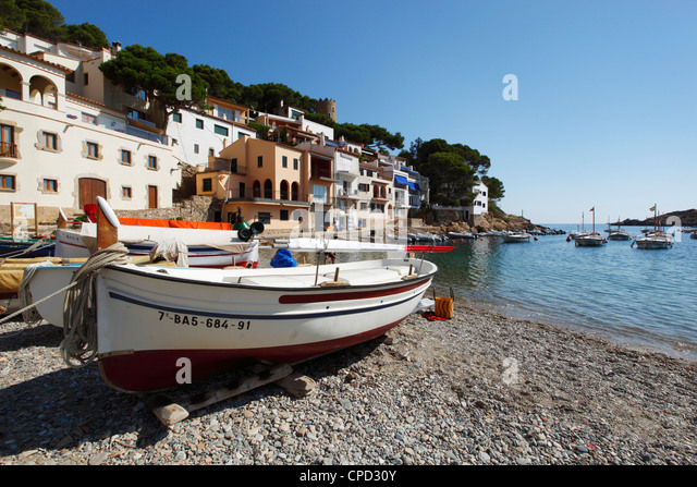Sa Tuna, near Begur, Costa Brava, Catalonia, Spain, Mediterranean, Europe - Stock Image