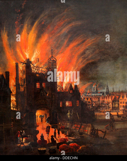 The Great Fire of London, 2-5 September 1666 - Stock Image