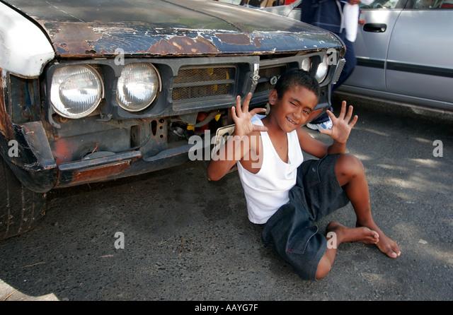 cape town Bo Kaap boy posing - Stock Image
