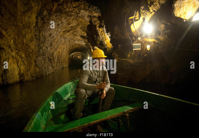 A guide to the tunnel network of the 'Riese Complex'. Lukasz Kask surveys one of the larger 'Nazi' - Stock Image