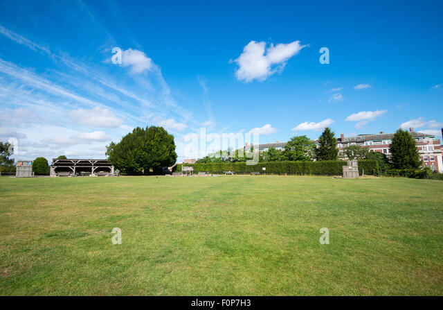 Summer on the green at Nottingham Castle, Nottinghamshire England UK - Stock Image