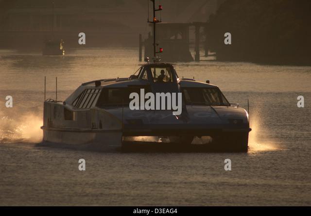 Brisbane citycat ferry on the Brisbane River Queensland Australia - Stock Image