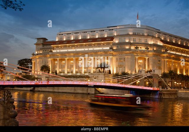 The Fullerton Hotel Singapore Asia Singapur - Stock Image
