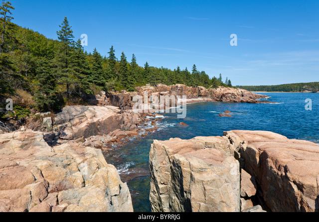 Acadia national park stock photos acadia national park for Thunder hole acadia