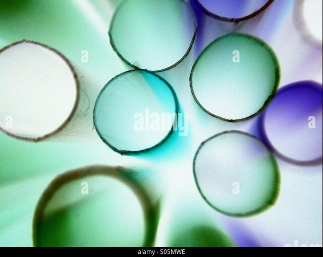 Abstract photo of drinking straws - Stock-Bilder