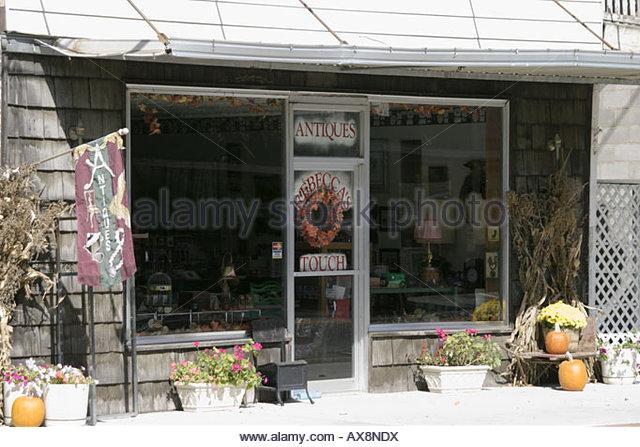 West Virginia White Sulphur Springs Main Street gift store - Stock Image