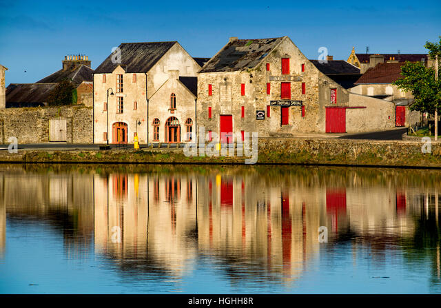 Reflections on River Lennon Rathmelton Ramelton Donegal Ireland - Stock Image
