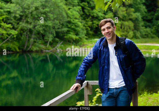 Handsome guy posing - Stock Image