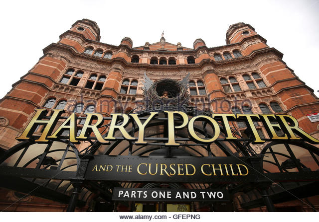 A general view shows The Palace Theatre where the Harry Potter and The Cursed Child parts One and Two play is being - Stock Image