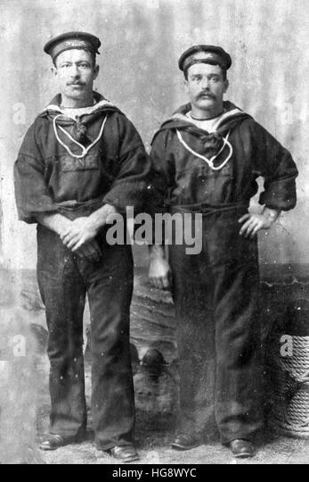 Royal Navy reserve Victorian sailors - Stock Image
