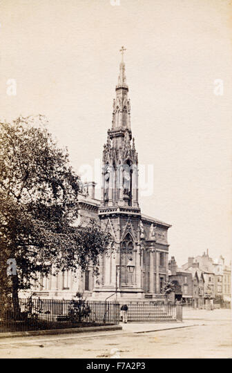 The Martyr's Memorial in St Giles, Oxford, UK, in about the 1860s - Stock Image