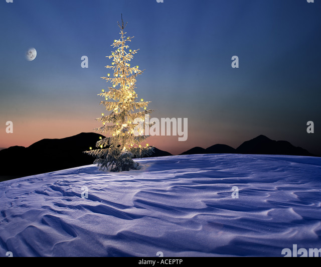CH - ENGADIN:  Alpine Christmas Scene - Stock Image
