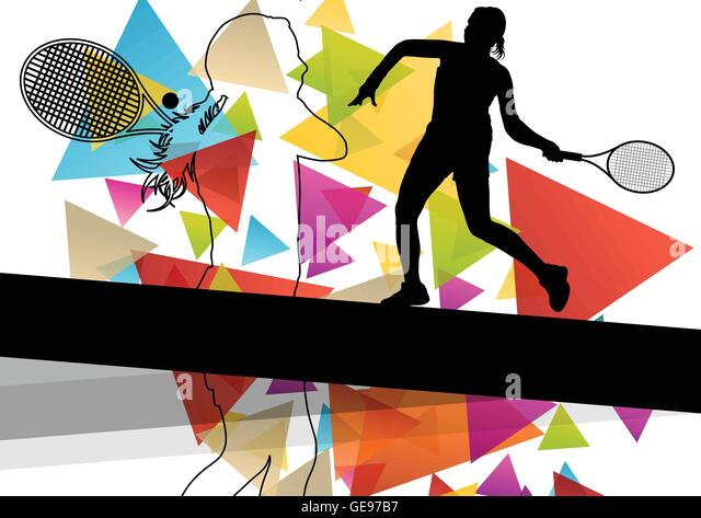 Cute Watercolor Olumpic Sports Equipment Background Vector: Tennis Shoes Stock Vector Images