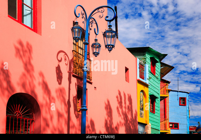 """Caminito street"" lateral view, ""La Boca"" Town, Buenos Aires, Argentina. - Stock Image"