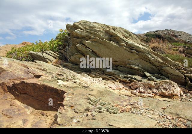 Rocks close-up on a Crete Island, Greece - Stock Image