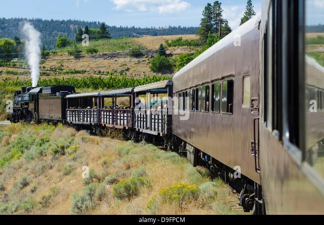 Kettle Valley Steam Railway, Summerland, British Columbia, Canada - Stock Image
