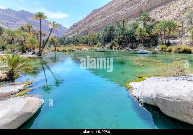 Wadi Bani Khalid, Oman, Middle East, Asia - Stock Image
