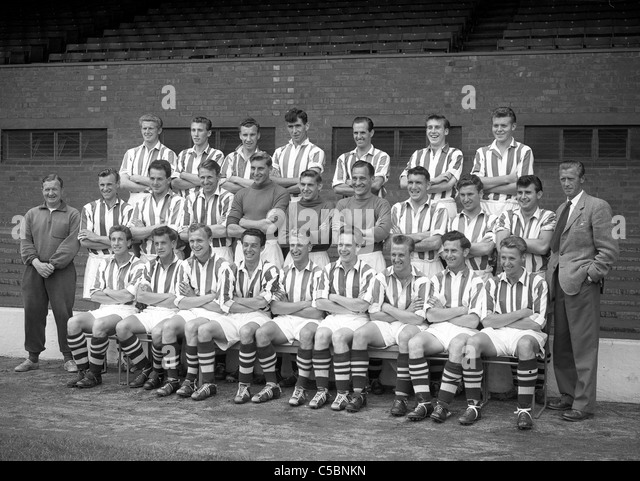 West Bromwich Albion football team 1950s 31/7/ - Stock Image