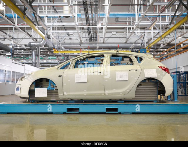 Shell Of Car During Production In Plant - Stock Image