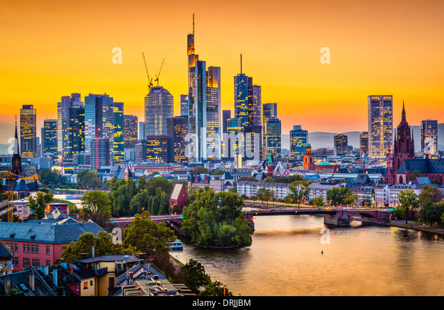 Frankfurt, Germany city skyline. - Stock Image