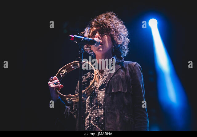 Grugliasco, Italy. 25th July, 2017. The American singer and songwriter LP performing live on stage at the Gruvillage - Stock Image