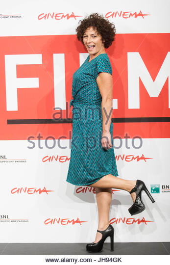 Lidia Vitale. The 8th Rome Film Festival, the cast of the film 'La Santa ' pose for photographers. - Stock Image
