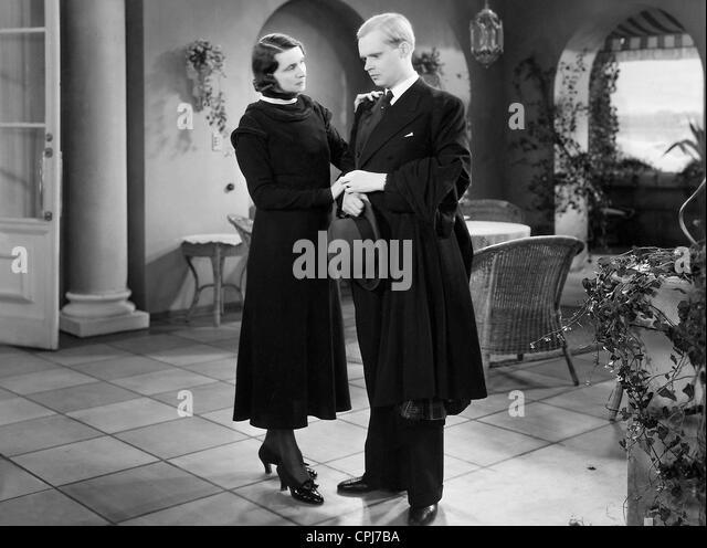 Albert Lieven in a movie scene - Stock-Bilder