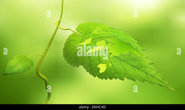 Green planet, conceptual artwork - Stock Image