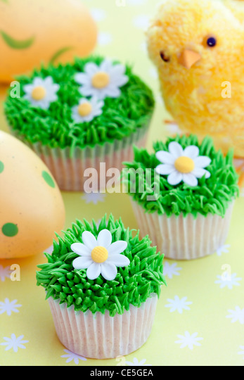 Easter cupcakes - Stock Image