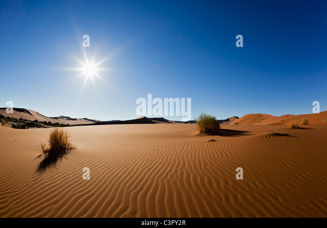 Africa, Namibia, Namib Naukluft National Park, View of sand dunes at the naravlei in the namib desert - Stock Image