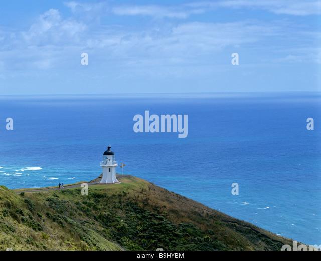 Cape Reinga lighthouse, Aupouri Peninsula, northern tip, North Island, New Zealand - Stock-Bilder