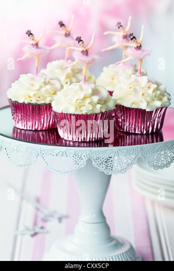 Ballerina cupcakes - Stock Image