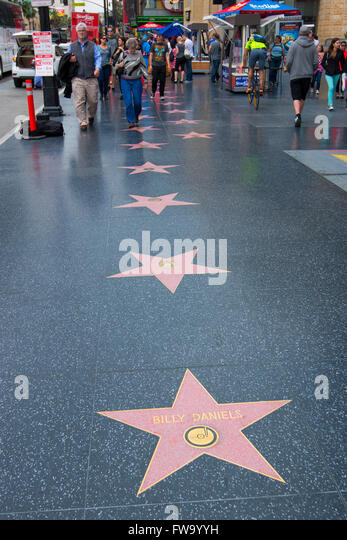 The walk of fame on Hollywood boulevard - Stock Image
