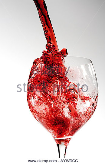 Beverage, Drink, Wine, Red wine, Cast in, Pour in, Pouring in - Stock-Bilder