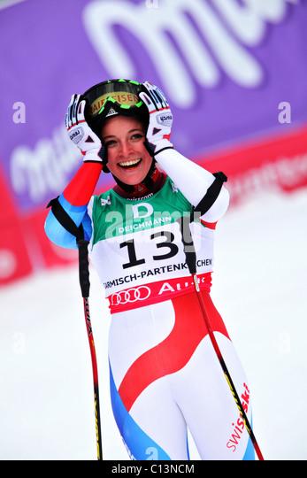 Lara Gut (SUI) at the FIS Alpine World Ski Championships 2011 in Garmisch-Partenkirchen - Stock Image