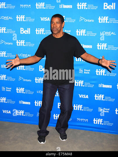 Toronto, Canada. 7th Sep, 2014. Actor Denzel Washington poses for photos at the press conference of the film 'The - Stock-Bilder