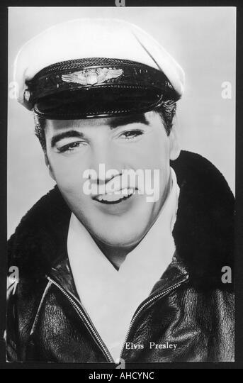 Elvis Presley Leather - Stock Image